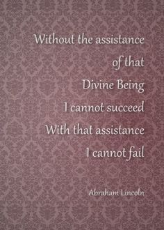 5X7 Abraham Lincoln Quote I Cannot Fail Instant by WriteontheDot, $5.00