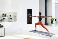 Brynn Putnam's startup Mirror introduces the world's first nearly invisible, interactive home gym featuring live and on-demand fitness classes in a variety of workout genres. Wellness Fitness, You Fitness, Health Fitness, Fitness Logo, Fitness Motivation, Fitness Devices, Coach Sportif, Fitness Gadgets, Group Fitness Classes