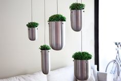 FLOATING GARDEN    - Hack it using some type of stainless kitchen container from Ikea.