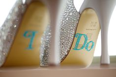 Benjamin Adams wedding shoes with 'I Do' hiding underneath