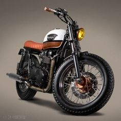 Here's the latest custom motorcycle from Lisbon's Ton-Up Garage—a classy Triumph Bonneville that could pass as a desirable limited edition from the Triumph factory Triumph Motorcycles, Vintage Motorcycles, Custom Motorcycles, Custom Bikes, Custom Wheels, Triumph Bonneville T100, Cafe Bike, Cafe Racer Bikes, Cafe Racers