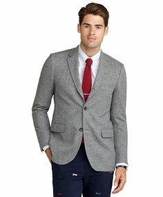 Milano Fit Harris Tweed Houndstooth Sport Coat Blue-Grey. $358.80
