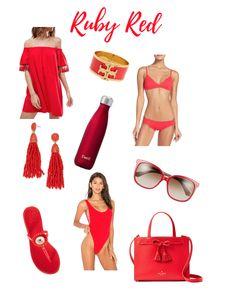 Dress: ASOS   Bracelet: Tory Burch   Bikini: J.Crew (top & bottoms)   Earrings: BaubleBar   Water Bottle: S'well   Sunglasses: Kate Spade   Sandals: Tory Burch   One Piece: Motel   Bag: K…