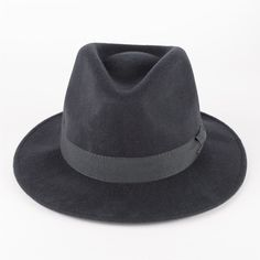 47c516e824e7e 100% Wool Felt Fedora Hat with Grosgrain Band Handmade in Italy