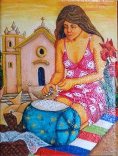Rendeira da Lagoa. de Salete Maria Farias de Oliveira dit SOLI(brésilienne 1962 - )