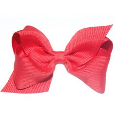 Wee Ones Medium Red Grosgrain Bow. Little girls classic red double looped grosgrain hair bow. See More Hair Bows at http://www.ourgreatshop.com/Hair-Bows-C206.aspx