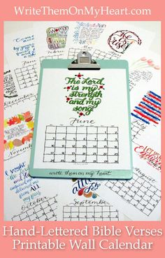 Need a printable wall calendar with hand-lettered monthly Bible verses? Speaking of calendar, let's discuss the B.C. and A.D. timeline with Christ at the center! #printablecalendar #2018calendar