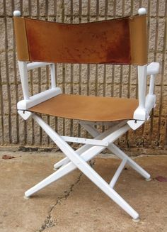 Set Of Four Leather Director Chairs