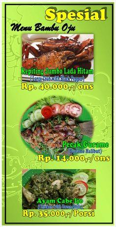 Special Menu Ala Seafood. dengan cita rasa yang berbeda.