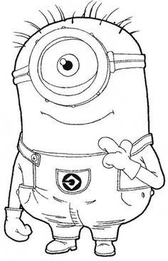 Minions Tegninger til Farvelægning. Printbare Farvelægning for børn. Tegninger til udskriv og farve nº 3
