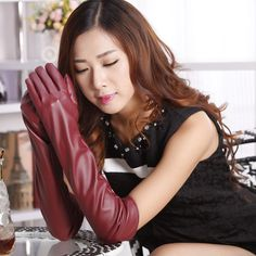 Find More Gloves & Mittens Information about 2016 New Faux PU Leather Gloves Fashion Women Glove Warm Outdoors Long Design Sexy Mittens Guantes,High Quality glove rubber,China glove toy Suppliers, Cheap glove pink from Bys Store Store on Aliexpress.com