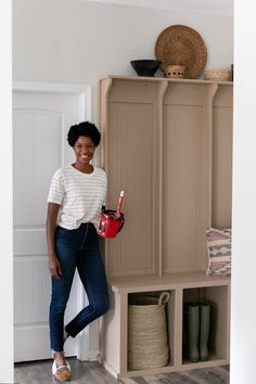 How To Paint Trim and Cabinetry Painted Built Ins, Gallon Of Paint, Best Brushes, Built In Furniture, Sanding Block, Painted Trays, Painting Trim, Painters Tape, Paint Cans