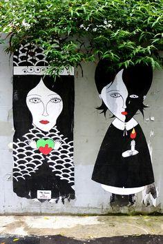 Fred le chevalier - street art - paris 11, rue jean-pierre timbaud (juin 2013)