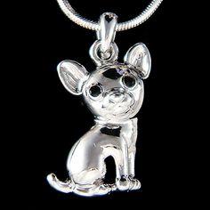Swarovski Crystal Dainty Tiny Chihuahua puppy Mexico by Kashuen