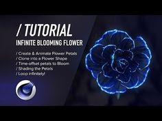 Making Infinite Blooming Flower with Cinema 4d Tutorial
