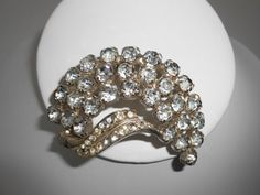 Rhinestone Brooch Vintage Jewelry Formal by LittleBitsofGlamour, $38.00