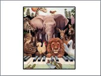 Themed Classical Music for Kids--great resource for preschool music camp Music For Kids, Kids Songs, Toddler Music, Piano Lessons, Music Lessons, Piano Teaching, Learning Piano, Carnival Of The Animals, Preschool Music