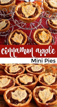 Mini Pie Recipes, Tart Recipes, Baking Recipes, Mini Desserts, Just Desserts, Hawaiian Dessert Recipes, Mini Pies, Thanksgiving Desserts, Holiday Baking