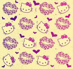 hello kitty kisses Hello kitty zebra print wallpapers