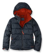 Boys' Bean's Fleece-Lined Down Jacket