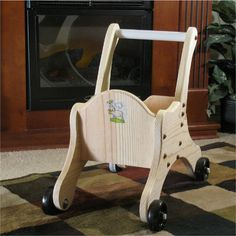 Toddler's Toy Push Cart All Wood by ForeverAfters on Etsy, $75.00