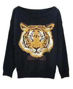 Tiger Print Pullovers