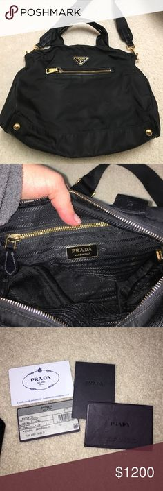 Authentic PRADA tessuto calf tote This Prada bag is amazing and from Italy! Never been worn and comes with the Prada cards and certification cards. Please ask me if you need any other photos! Am open to reasonable offers! Comes from a non smokers house. And comes with dust bag the serial number is 172. Prada Bags Totes