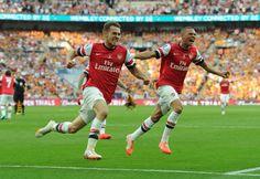 Ramsey Goal Celebration FA Cup Champion 2013/14 Arsenal COYG