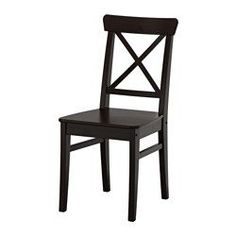 IKEA - INGOLF, Chair, You sit comfortably thanks to the high back.Solid wood is a durable natural material.