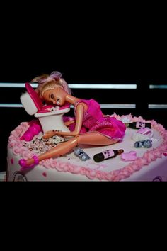 Barbie Bachelorette Hen Party Photo Booth wedding cake www.mramdmrsw.com