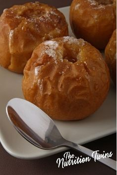 Baked Apple | Only 89 Calories! | Sweet & Warm Comfort Food | For MORE RECIPES please SIGN UP for our FREE NEWSLETTER www.NutritionTwins.com