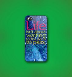 #Life #Quote #Dance In #TheRain - Design Print for #iPhone #4/4s Case or #iPhone #5 #Case - Black or White