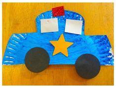Community Helpers Lesson Plan, Community Helpers Crafts, Cars Preschool, Preschool Craft Activities, Police Crafts, Police Officer Crafts, Community Workers, Community Service, Transportation Crafts