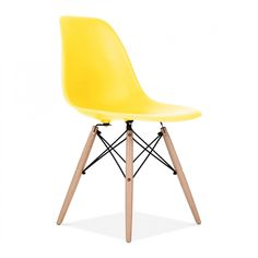 Charles Eames Style Yellow DSW Chair