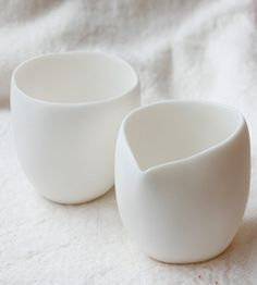 So simple, so perfect. Cream & Sugar set by Tina Frey in San Fran