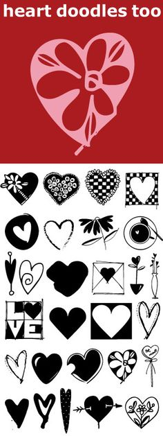 Heart Doodles Too is the follow up font to Heart Doodles. This one is a bit fussier and fancier and more detailed. 41 hearts for all your Valentine and Wedding needs.