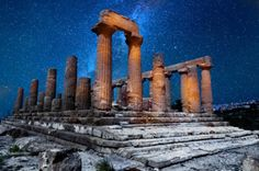 Ruins of a Greek temple, Sicily, Italy