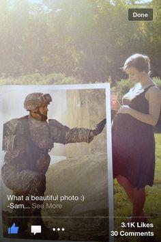 Deployment/ pregnancy photo