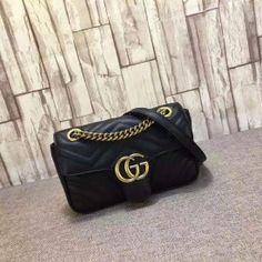 Gucci GG Marmont matelassé mini bag black 446744