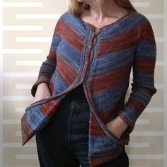 Ravelry: al-fa's almonds & stripes cardi
