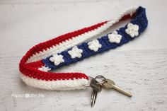 Patriotic Crochet Lanyard