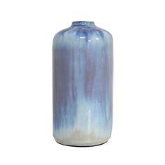 Flot håndlavetvase medsmuk glasur fra hollandske HK Living.        Farve : Blåtonet        Materiale : Fajance        Mål : 10x 10 x 21cm