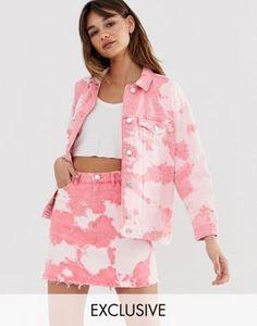 Monki tie dye denim jacket in pink at ASOS. Tie Dye Outfits, Fall Outfits, Fashion Outfits, Denim Jumpsuit, Denim Overalls, Coats For Women, Jackets For Women, Tie Dye Jackets, Tie Dye Jeans
