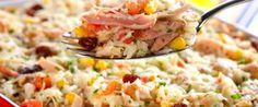 Copie a Receita de Arroz de forno com frango e milho - Receitas Supreme