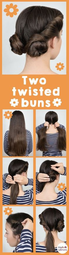 Two twisted hair buns.
