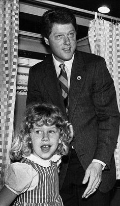 Bill and Chelsea Clinton