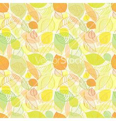 Autumn leaves seamless pattern vector by portarefortuna on VectorStock®