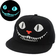 New Men Women TFBOYS Luminous Snapback Caps Glow In The Dark Baseball Hats Nightclub Party Cap Fluorescent Snap Back Fitted Hats