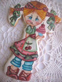 Niña traviesa  http://www.misrecetasmasdulces.com/2015/03/como-pintar-galletas-y-no-morir-en-el.html