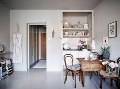 Small home with grey walls - via cocolapinedesign.com